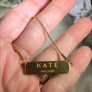 KATE SPADE FORTY EIGHT Bar Necklace
